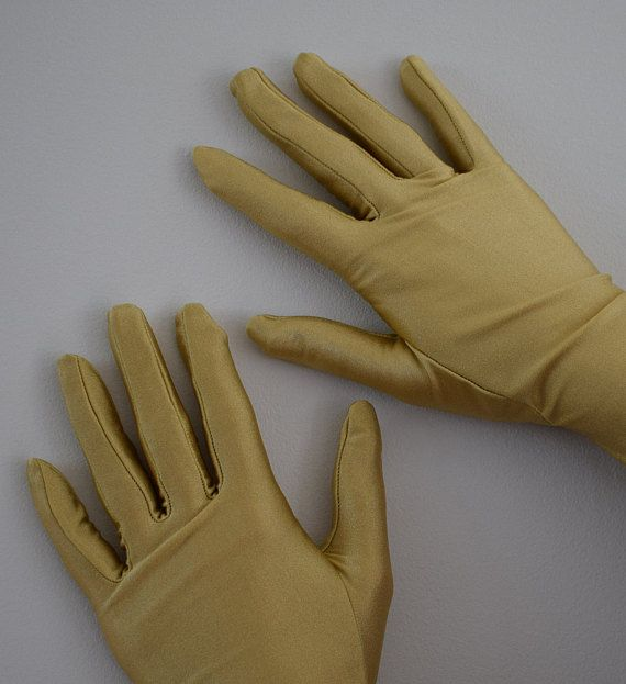 Ladies Vintage Gloves GOLD Bermona Trend London Made in