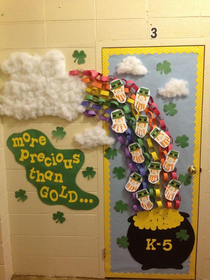 Classroom Decoration Ideas For St Grade ~ St patricks day classroom door decorations patrick s