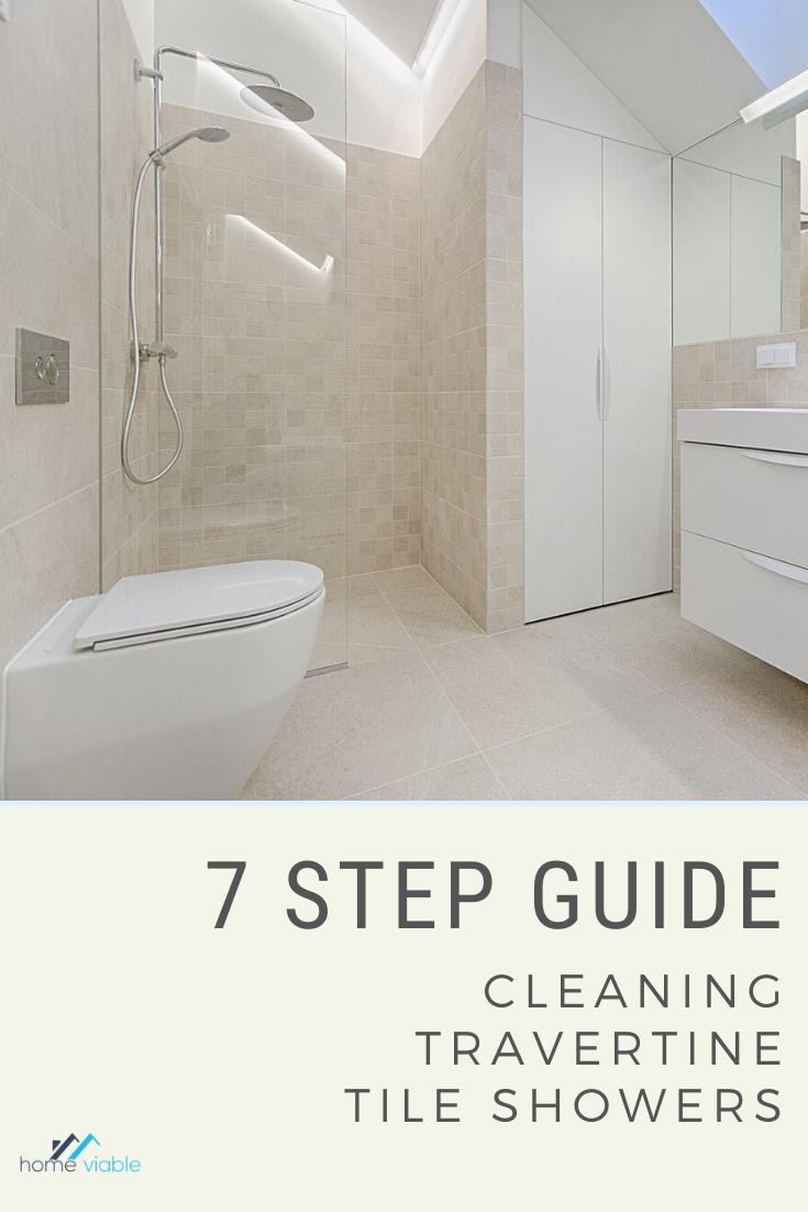 How To Clean A Travertine Shower In 2020 Travertine Shower