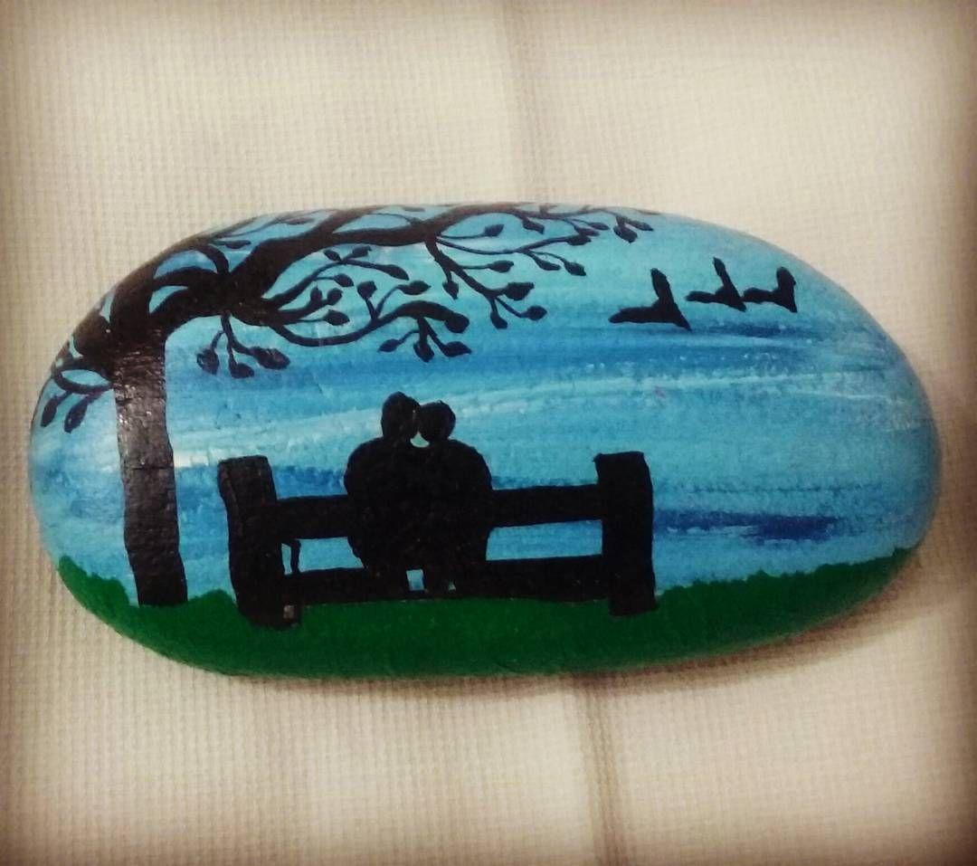 #stonepainting#pebblepainting#rockart#couple#peace#love