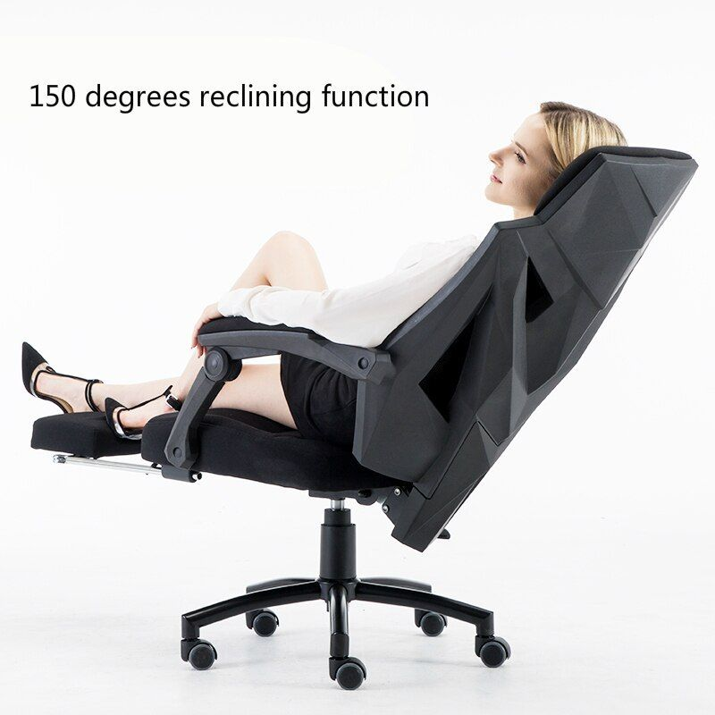 Computer Chair Household Casual Modern Simple Reclining Chair Ergonomics Multifunction Office Chair Lifted Ratating Mesh Computer Chair Comfortable Chair Chair