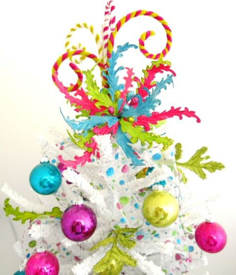 Whimsical Christmas Trees Ideas: Love The Colors And Whimsical Idea!
