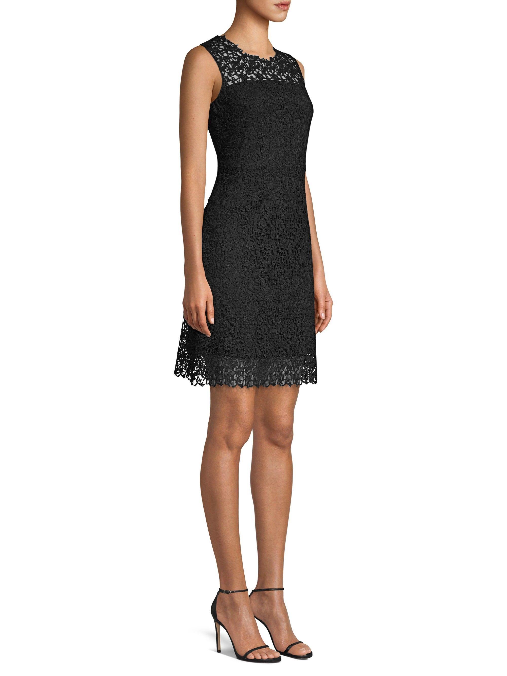 Elie Tahari Ophelia Lace Dress Black 14