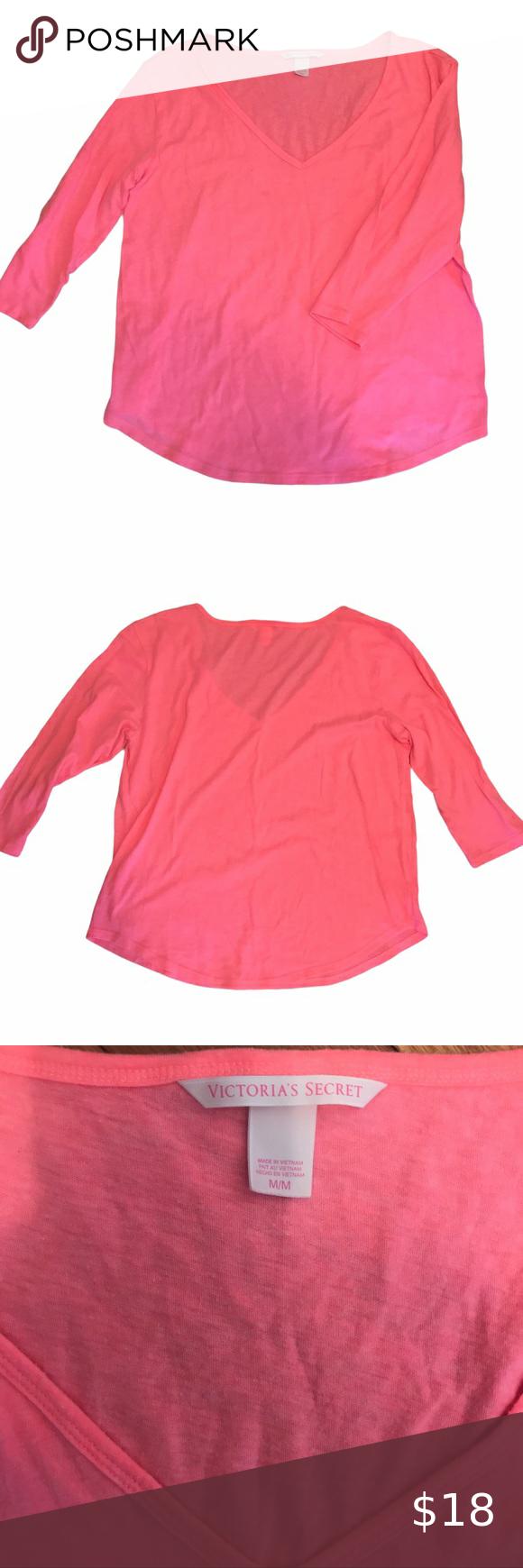 Victoria S Secret Pink 3 4 Sleeve V Neck Shirt Neck Shirt Victoria S Secret Light Sweater