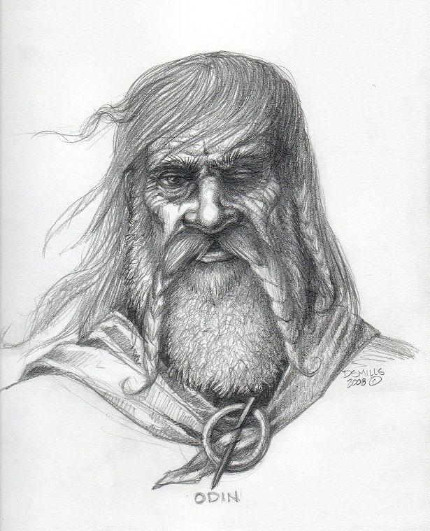 Odin sketch by Wolverat