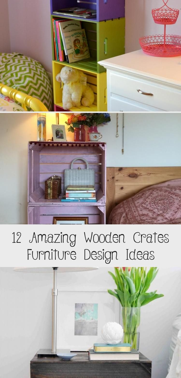 Photo of 12 Amazing Wooden Crates Furniture Design Ideas – Wooden crates can be an inexpe…