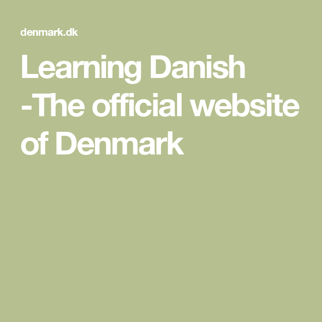 Is Often Cited As One Of The World S Best Countries To Live In With Images Danish Language Denmark Language Denmark