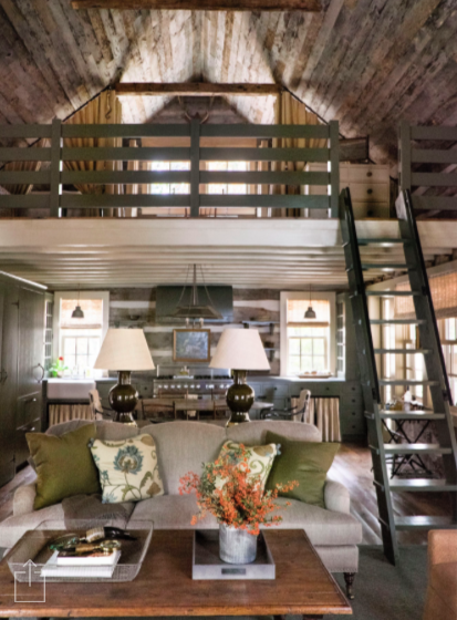 NINE + SIXTEEN: Inspiration   A Picture Perfect Log Cabin + Design Crush