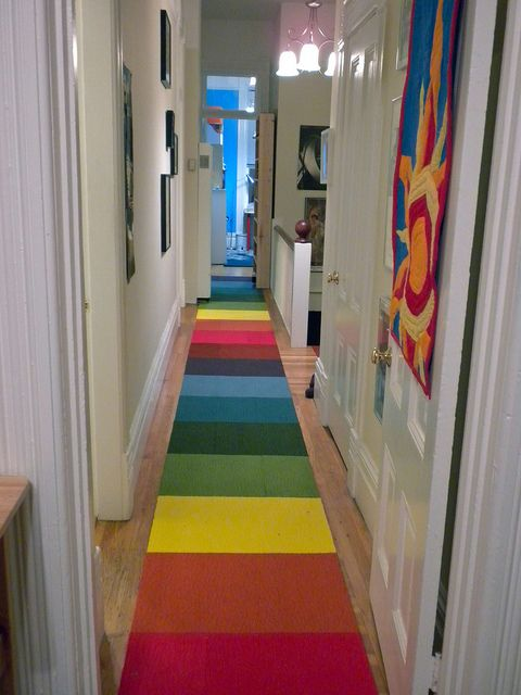 Rainbow Hallway Runner Will Make Your Day For The Home