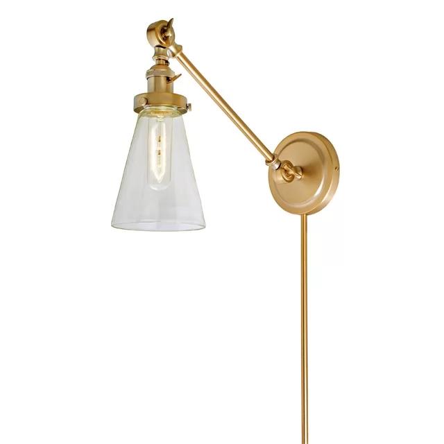 Martucci Double Swivel 1 Light Swing Arm Lamp Swing Arm Wall Lamps Swing Arm Wall Sconce Sconces