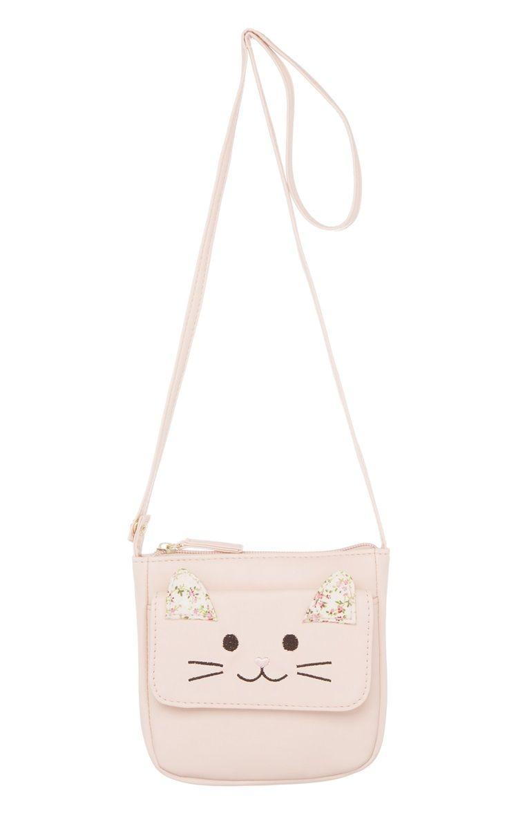 Something For The Little Ladies Primark Pink Novelty Cat Bag