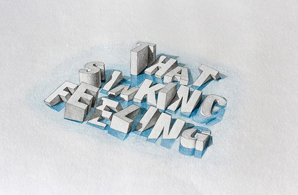 Wilson, Lex. Sinking Feeling. Digital image. Behance. Adobe, 17 Oct. 2013. Web. 24 Jan. 2016. #3dtypography