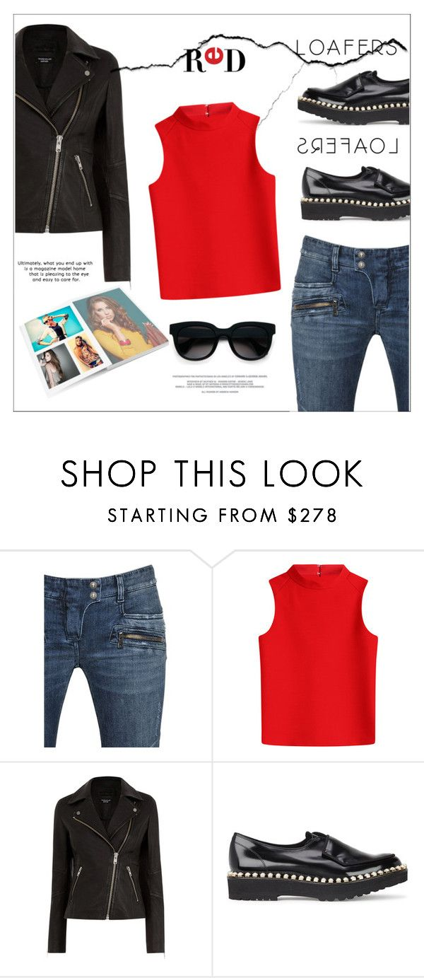 """""""Loafers*"""" by biange ❤ liked on Polyvore featuring Balmain, Courrèges, Suecomma Bonnie, Balenciaga and loafers"""