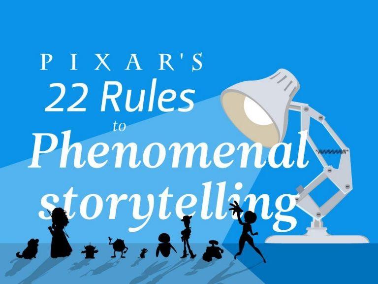 Pixar S 22 Rules To Phenomenal Storytelling Pixar Storytelling