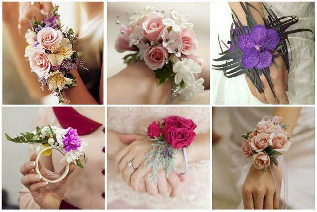 букеты-браслеты невесты