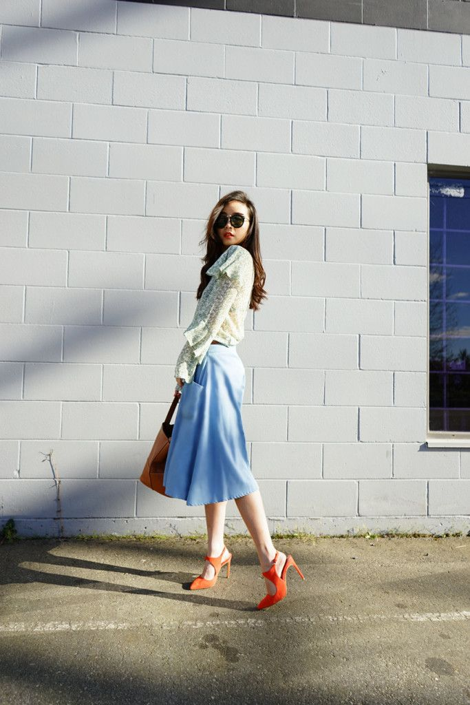Lovely and ladylike - Here is @Shellure's take on a spring look with a H&M modern classic blouse. | H&M OOTD