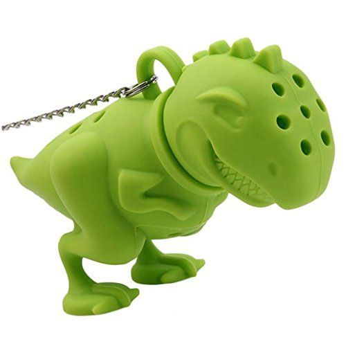 MAXGOODS Fine Green Silicone Dinosaur Tea Infuser Strainer Filter * Click image for more details.