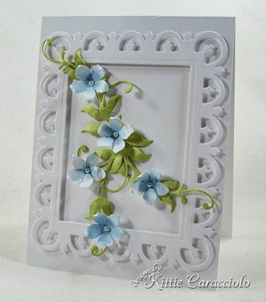 Reflecting Bouquet Inspired by kittie747 - Cards and Paper Crafts at Splitcoaststampers