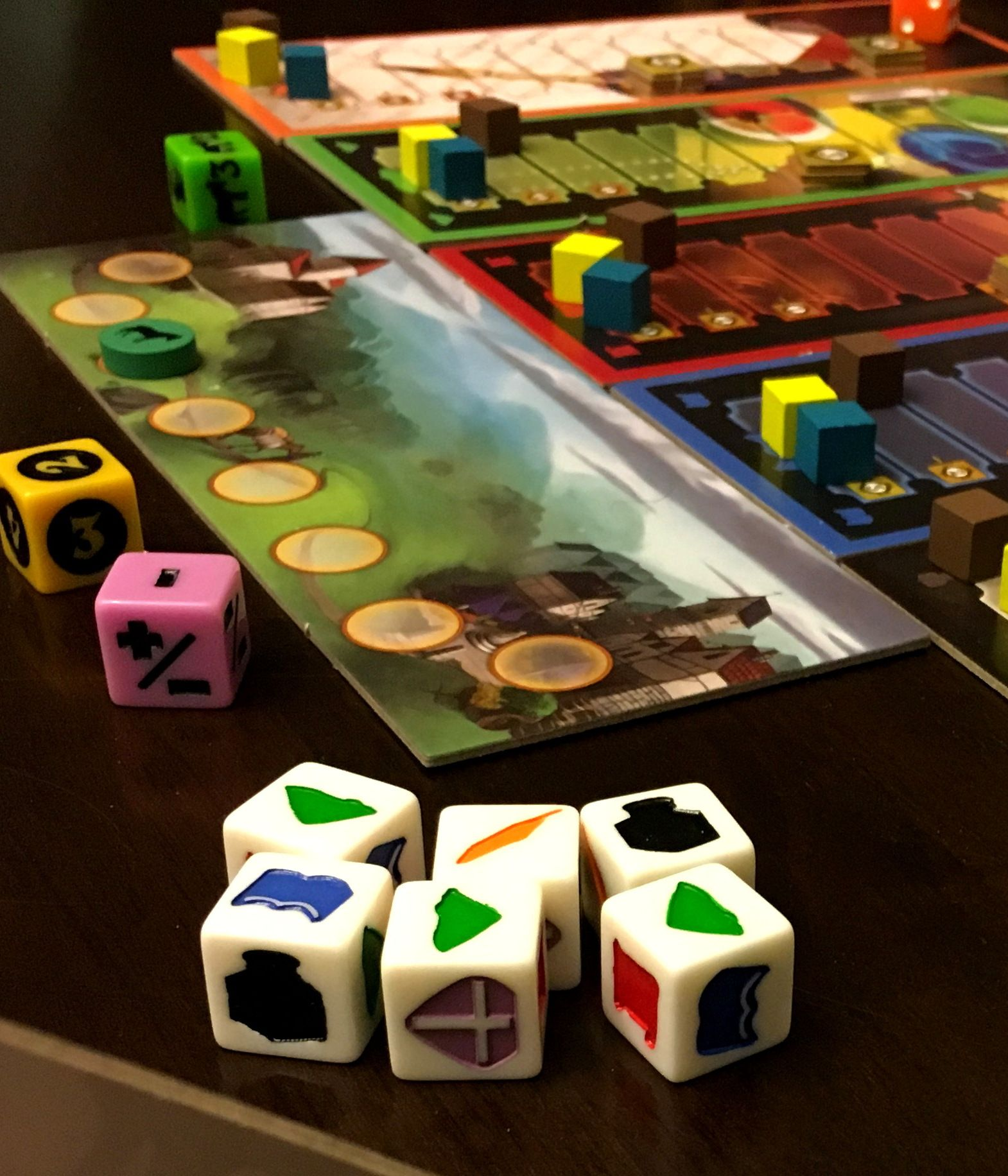 """""""Biblio Dice"""", a fun, simple to learn game that combines"""