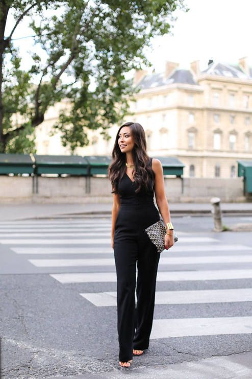beed99faf8 Black Jumpsuit Outfit Idea