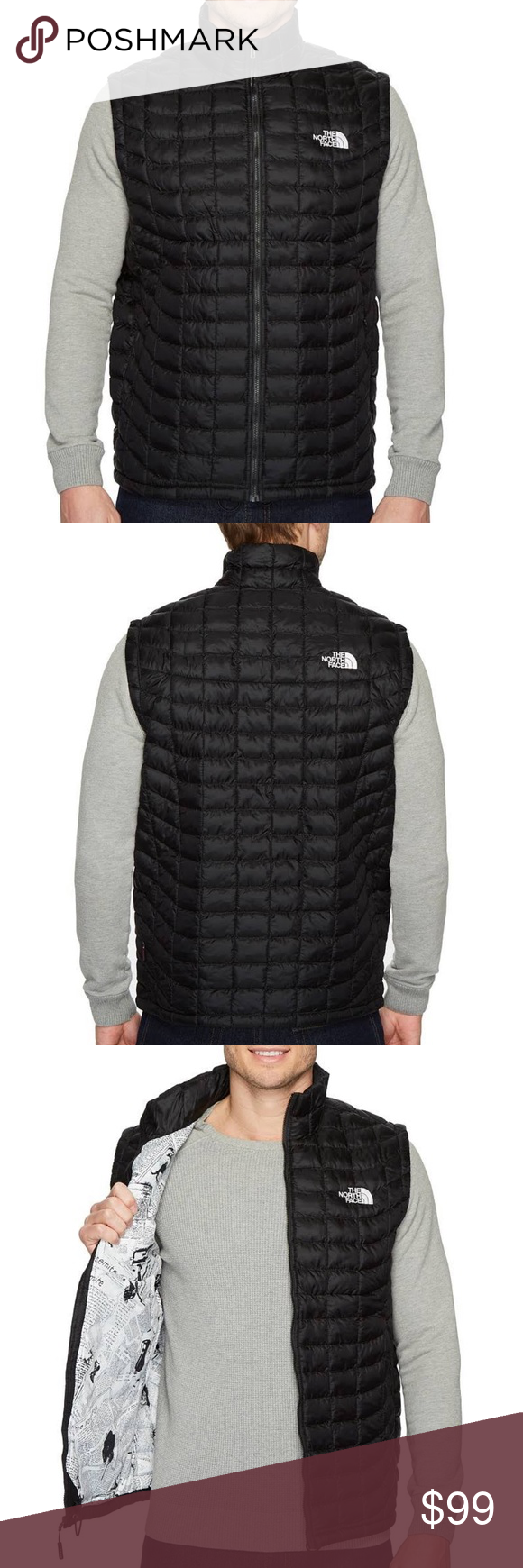 82b2303d4 The North Face Men's Thermoball Vest TNF Black / TNF White Catalogue ...