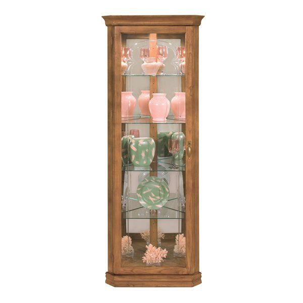 You Ll Love The Lighthouse Tempo Ii Lighted Corner Curio Cabinet At