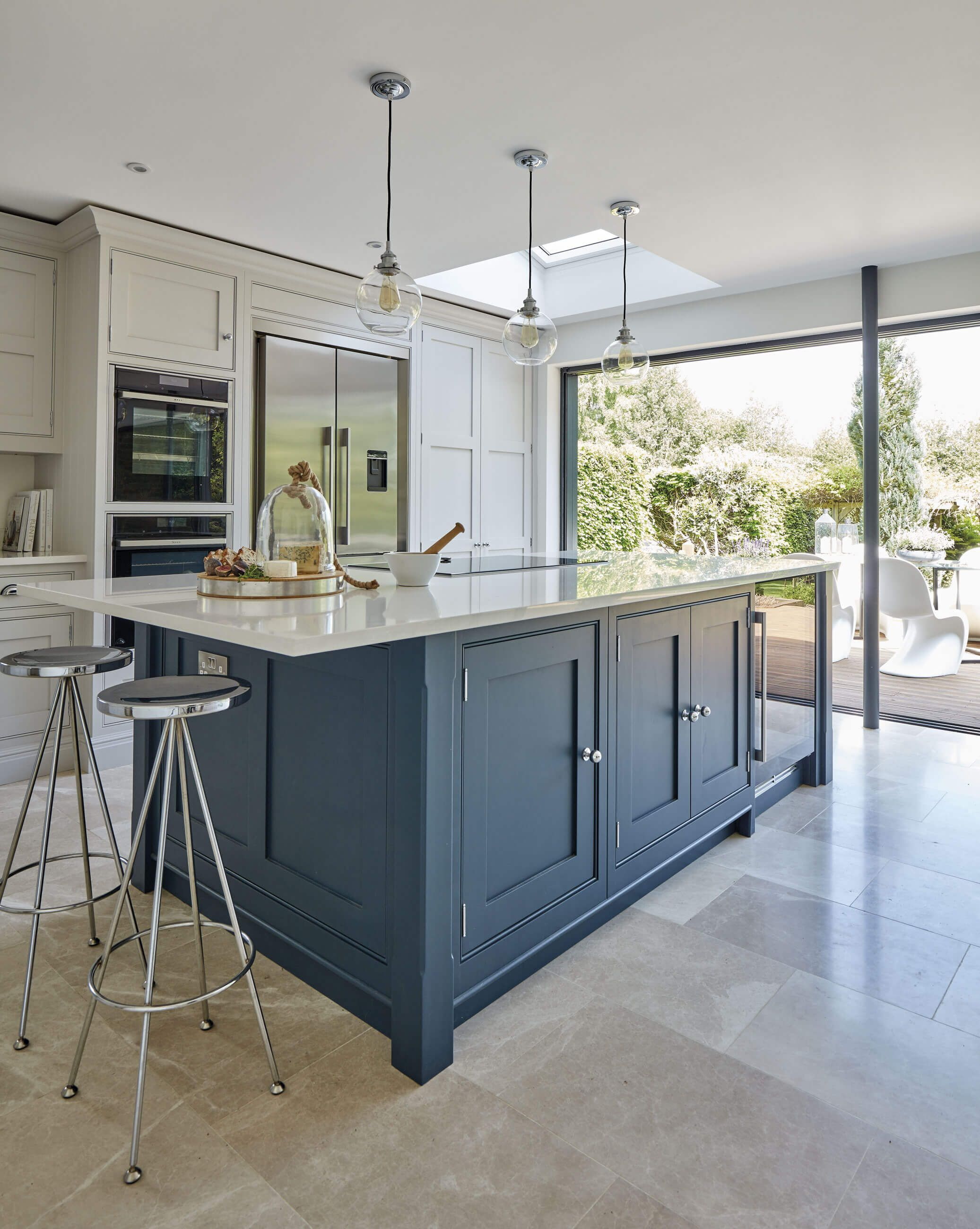 Kitchen Island Bespoke Kitchen Cabinets Tom Howley Interior Design Kitchen Blue Shaker Kitchen Dream Kitchens Design
