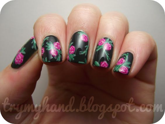 Try My Hand: NOTD : Converse Floral
