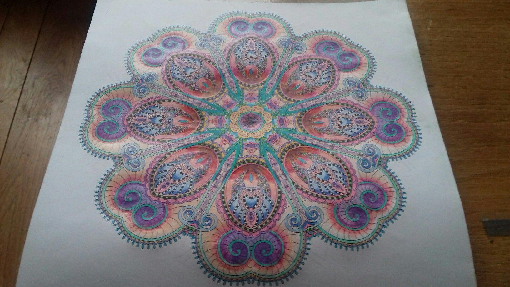Mandala  pastel