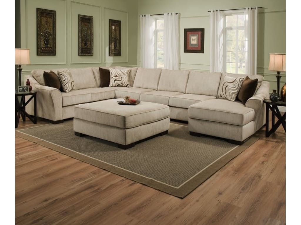 Beautyrest Living Room Kingsley Sectional With Ottoman Free