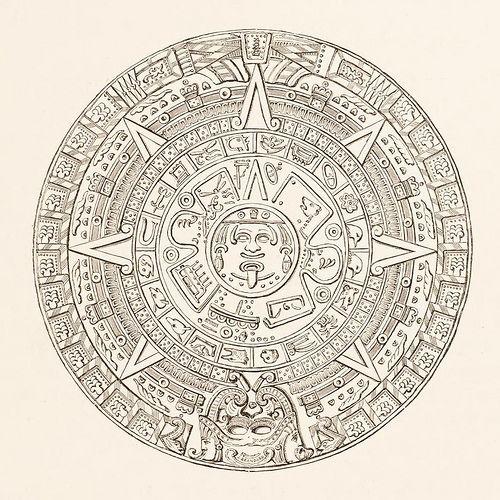 Cast Of An Aztec Hieroglyphical Calendar In 2021 Aztec Art Calendar Aztec
