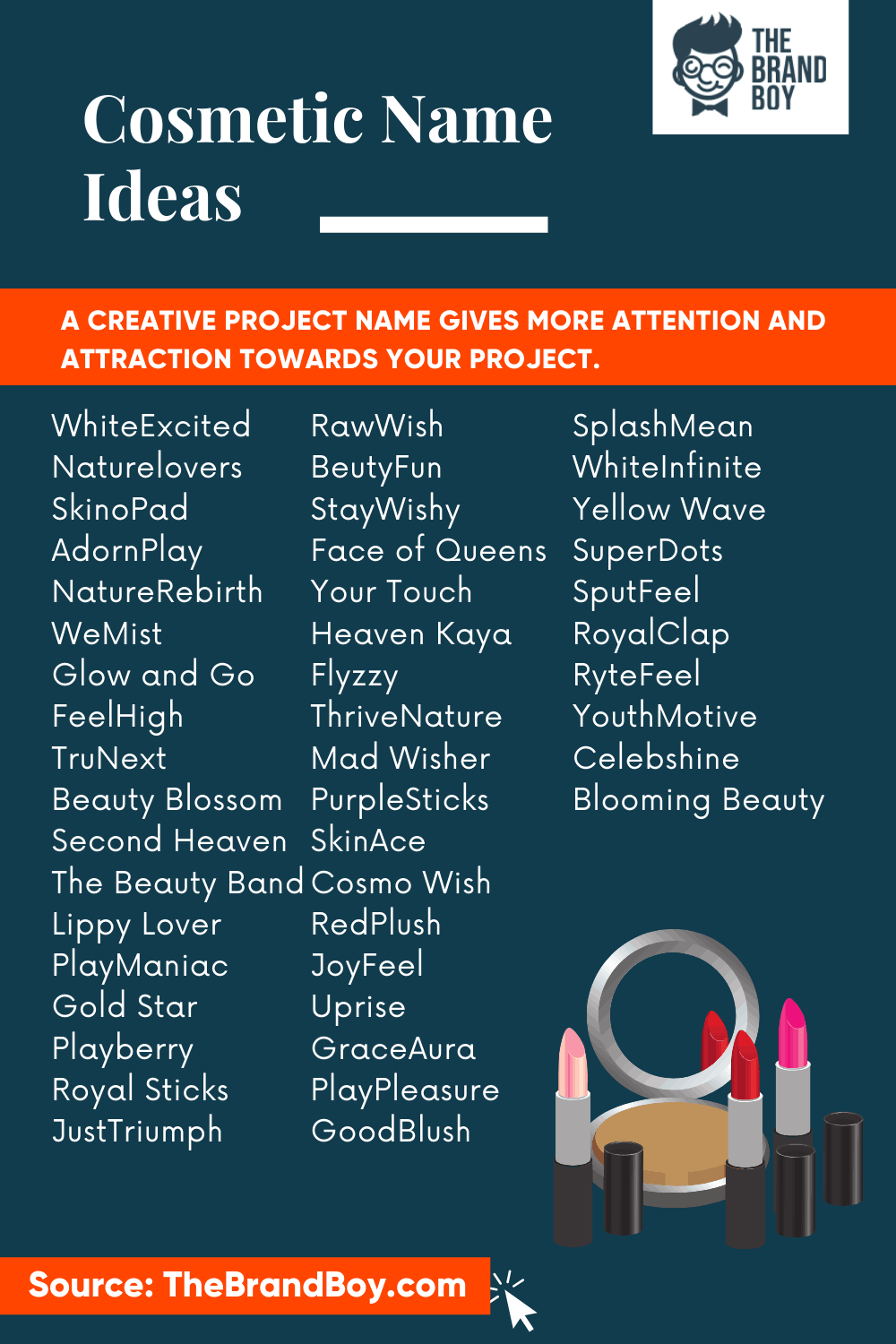 457 Catchy Cosmetic Company Name Ideas Video Infographic Cosmetics Names Ideas Cosmetic Companies Cute Business Names
