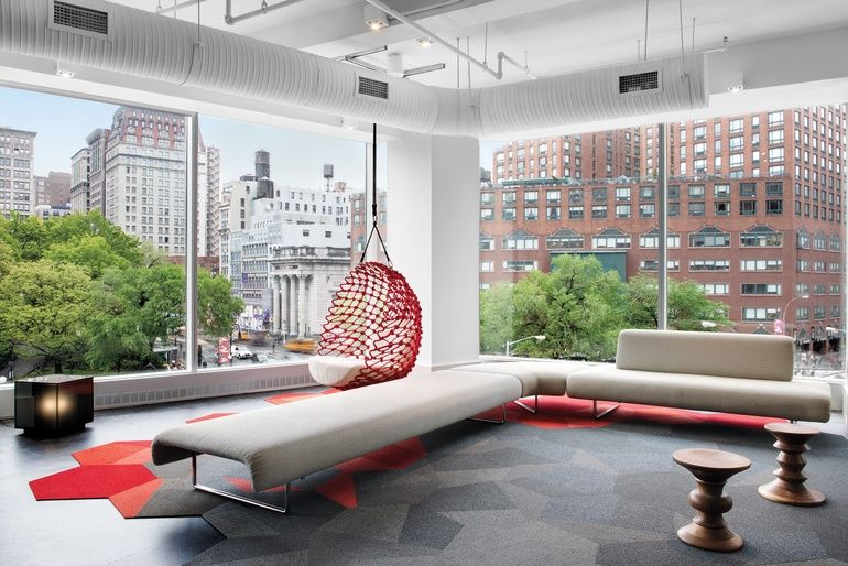 Shaw Contract Celebrates Opening Of New Nyc Showroom By Rockwell Group With Images Interior Design Magazine Interior Design Office Interior Design