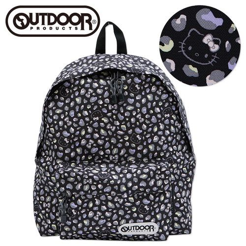 1a1746bc5b0c45 New Sanrio Hello Kitty Outdoor Backpack Daypack Bag L Japan Black Gift