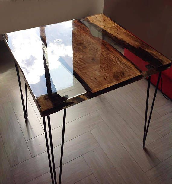 Coffee lunch table made with pera wood and high quality - Resine transparente pour table ...