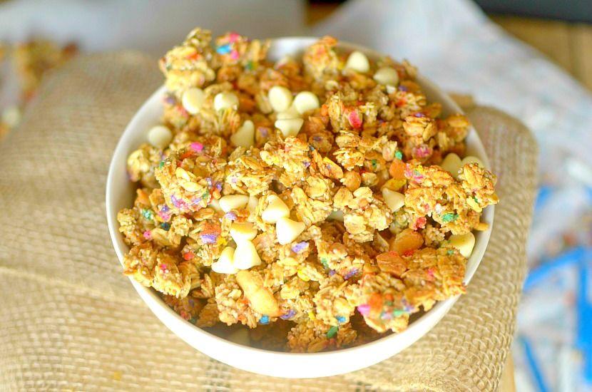 Easy birthday cake glutenfree granola vegan gluten