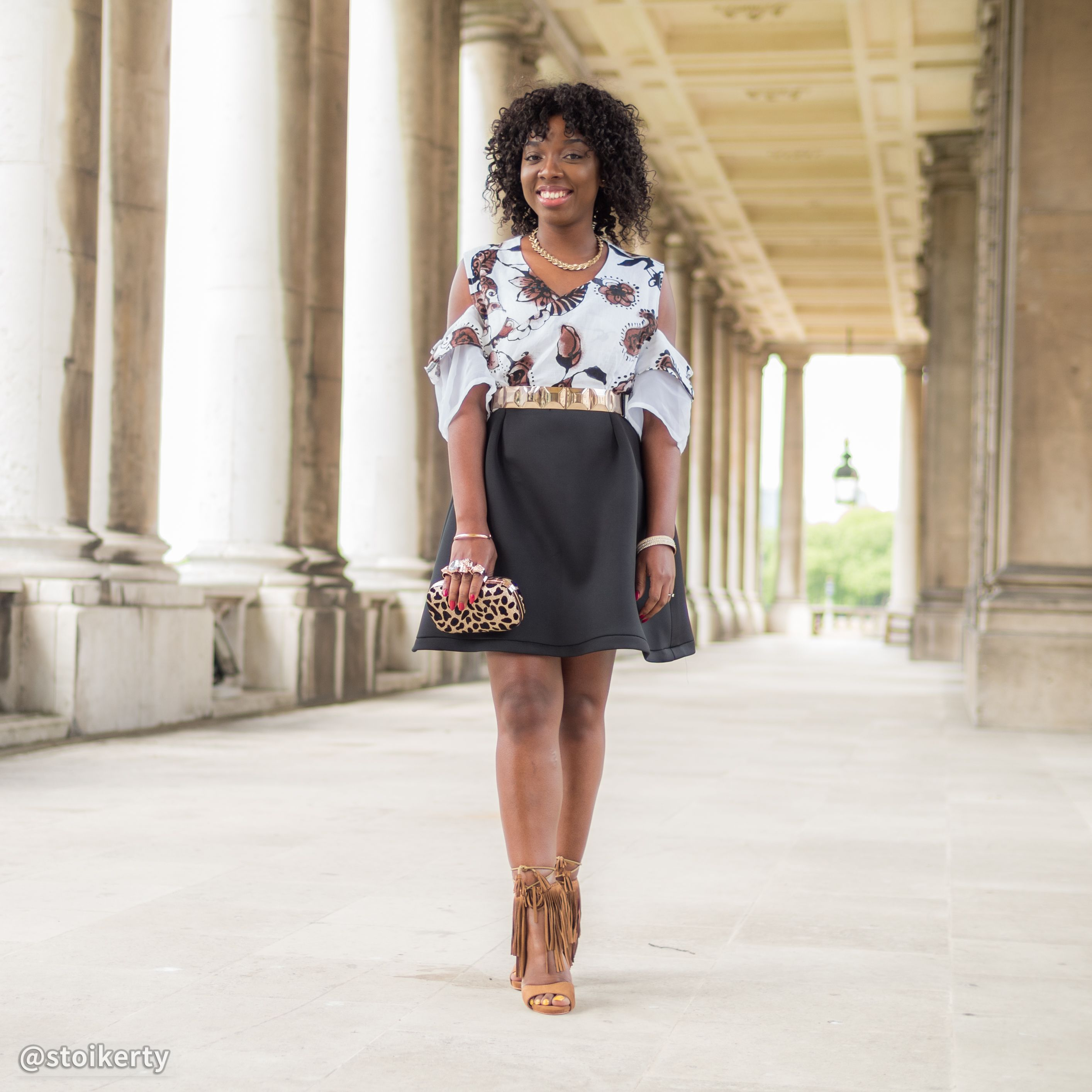 See How To Make This Beautiful Cold Shoulder Dress here
