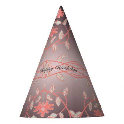 Flowered paper birthday party hat mightylinksfo