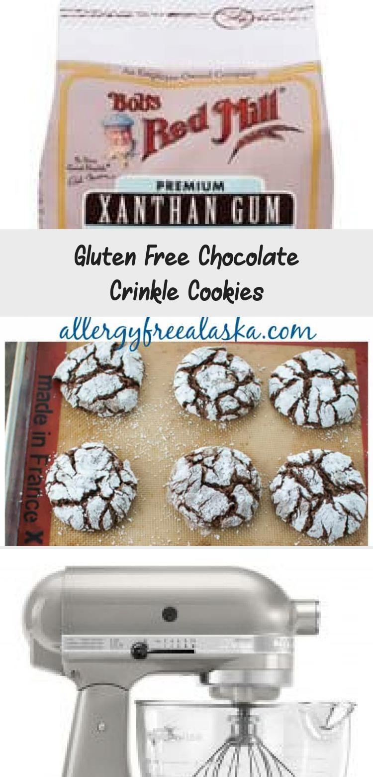 Gluten Free Chocolate Crinkle Cookies - Cooking Tips / Gluten Free Recipe #chocolatecrinklecookies