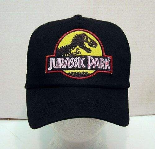 Jurassic Park Baseball Cap with Embroidered Patch by Jurassic Park.  19.95. Embroidered  patch. Adjustable mesh back trucker style black cap. e6222526d152
