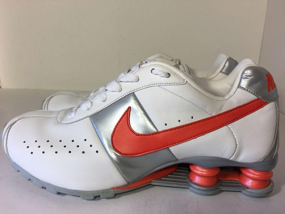 e3ceacdfb9e Wmns Nike Shox Classic White Orange Sz 8 5 343907 181