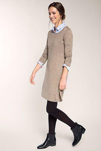 knitting dress #stricken Esprit - Feinstrick-Kleid aus ...