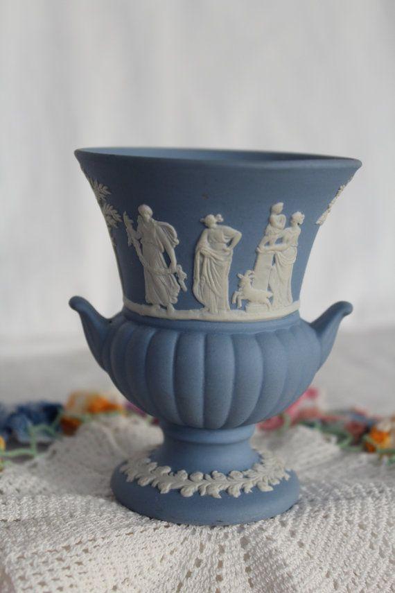 Wedgwood Blue Jasperware Vase English Wedgwood Jasperware Sold On