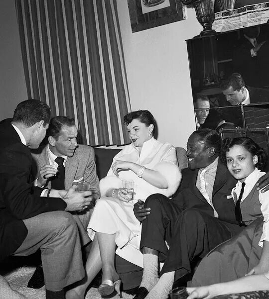 Frank Sinatra, Judy Garland, Sammy Davis Jr.