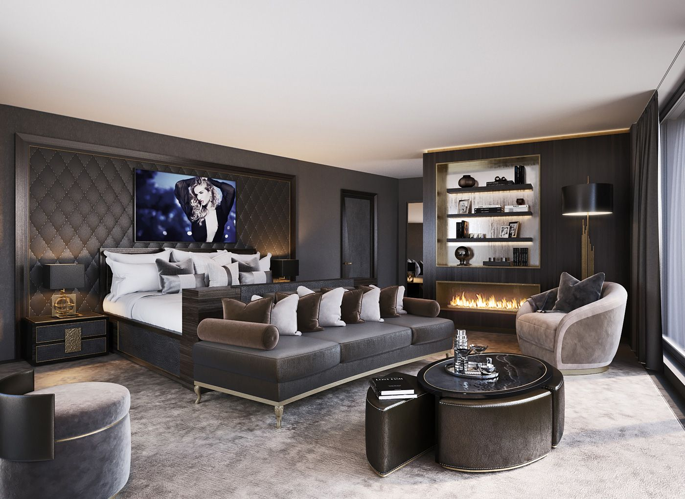 Luxus-Penthouse an der Goldküste Zürich | Schlafzimmer, Schlafzimmer ...