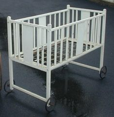Vintage Baby Nursery Furniture Baby Crib With Wheels Vintage