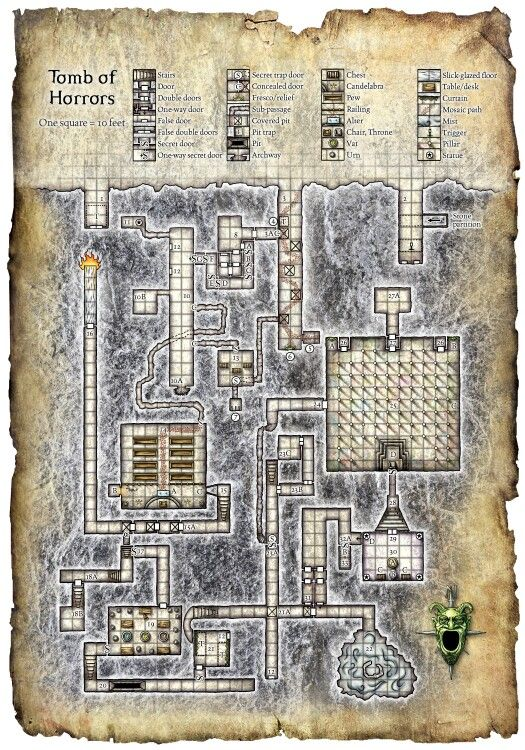 Tomb of horrors | map | Player one, Ready player one