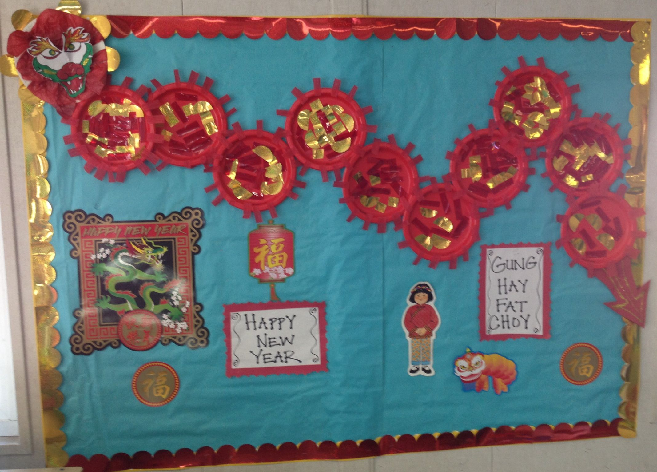 Chinese New Year bulletin board | Chinese new year crafts ...