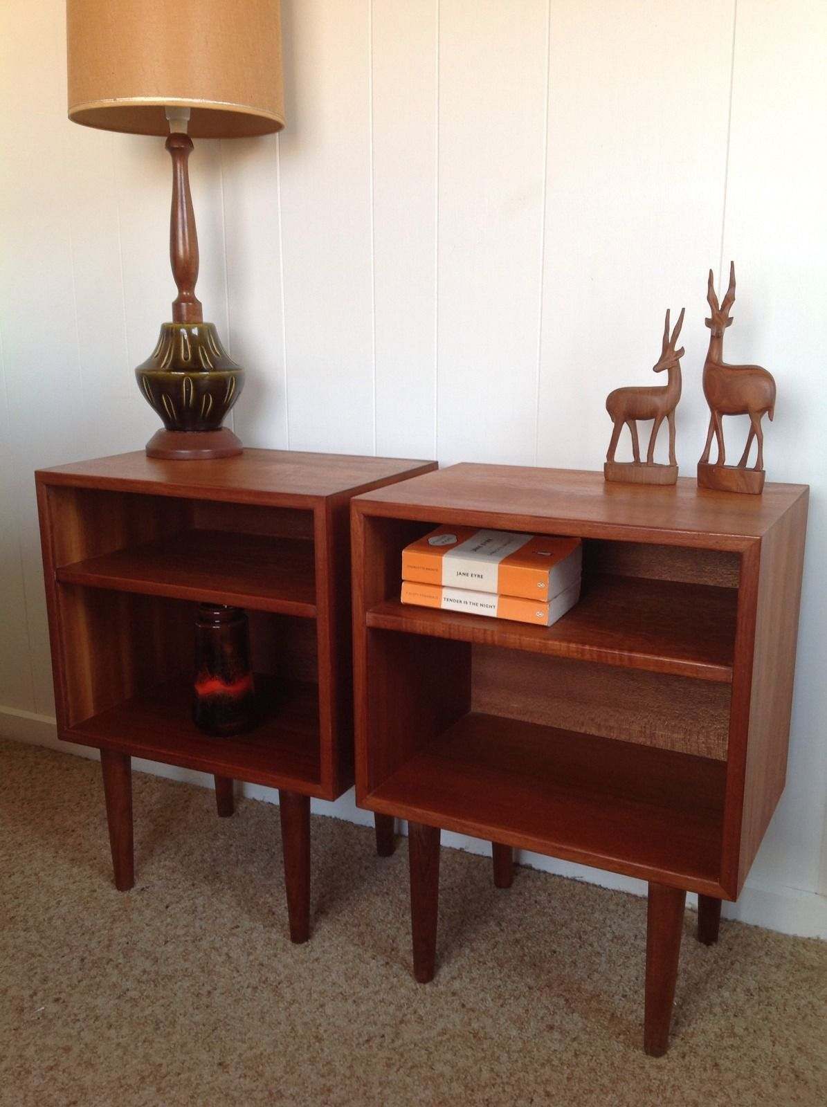 Retro Style Container Bedside Table: Hans Hayson Bedside Tables Danish Style Vintage Retro Fler