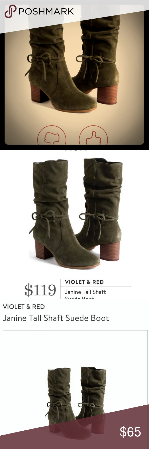 Violet and Red brand new Slouch Boots